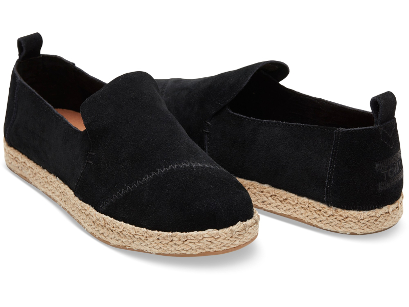 TOMS Suede Women's Deconstructed Alpargata Black