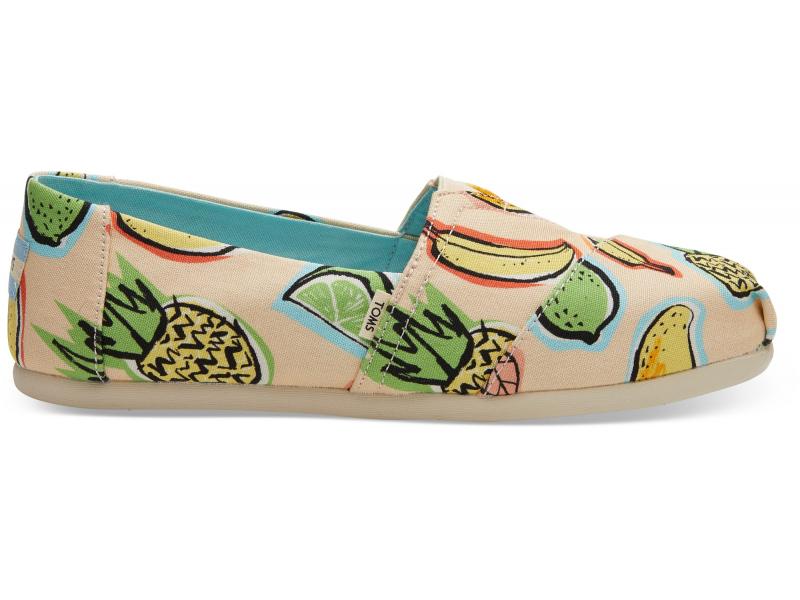 TOMS Cuban Fruits Women's Alpargata Coral