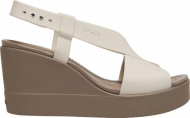 Crocs™ Brooklyn High Wedge Womens Stucco/Mushroom