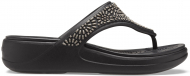 Crocs™ Monterey Diamante Wedge Flip Womens Black