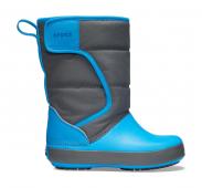Crocs™ Lodgepoint Snow Boot Kid's Slate Grey/Ocean