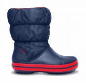 Crocs™ Kids' Winter Puff Boot Dark blue/Red