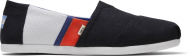 TOMS Color Block Men's Alpargata Black/White