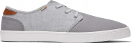TOMS Canvas Slub Chambray Men's Carlo Sneaker Grey