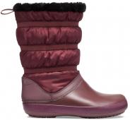 Crocs™ Women's Crocband Winter Boot Burgundy