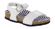 Birkenstock Risa Kids Nautical Stripes White