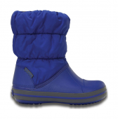 Crocs™ Kids' Winter Puff Boot Cerulean Blue/Light Grey