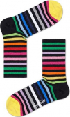 Happy Socks Rainbow Stripe 3/4 Crew Sock Multi 9300
