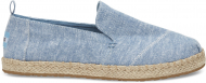 TOMS Slub Chambray Women's Deconstructed Alpargata Blue