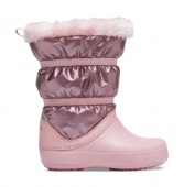 Crocs™ Crocband LodgePoint Metallic Boot Girl's Rose Gold Metallic