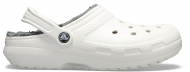 Crocs™ Classic Lined Clog White/Grey