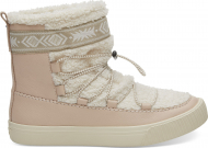 TOMS Leather Faux Shearling Women's Alpine Boot Dark Blush
