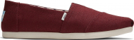 TOMS Heritage Canvas Men's Alpargata Black Cherry