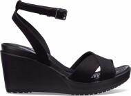 Crocs™ Women's Leigh II Ankle Strap Wedge Black/Black